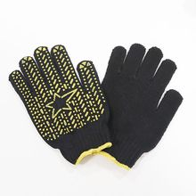 pvc dotted glove rubber glove with dots