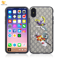 animal embroidery pc hard cover for apple iphone x