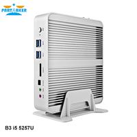 Fanless Barebone i5 Mini PC Broadwell Intel Core i5 5257U 4K HTPC Graphics Iris 6100 Optical+2*Nics+300M Wifi