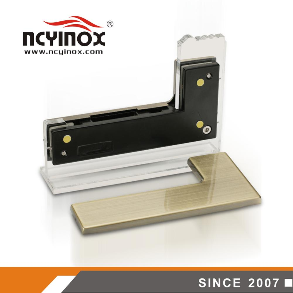 Stainless steel L type patch fitting for glass door