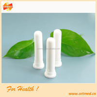 Medical grade nasal inhaler sticks with essential oil cotton wicks
