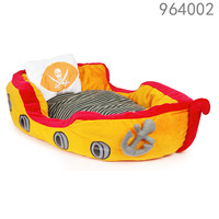 Hot selling wholesale plush boat pet dog bed dog with removable cushion