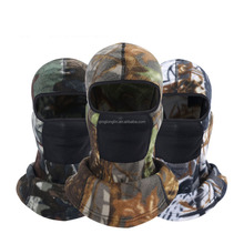 Custom Winter Camo Fleece Balaclava Hats with Earflap and Breathable Mesh