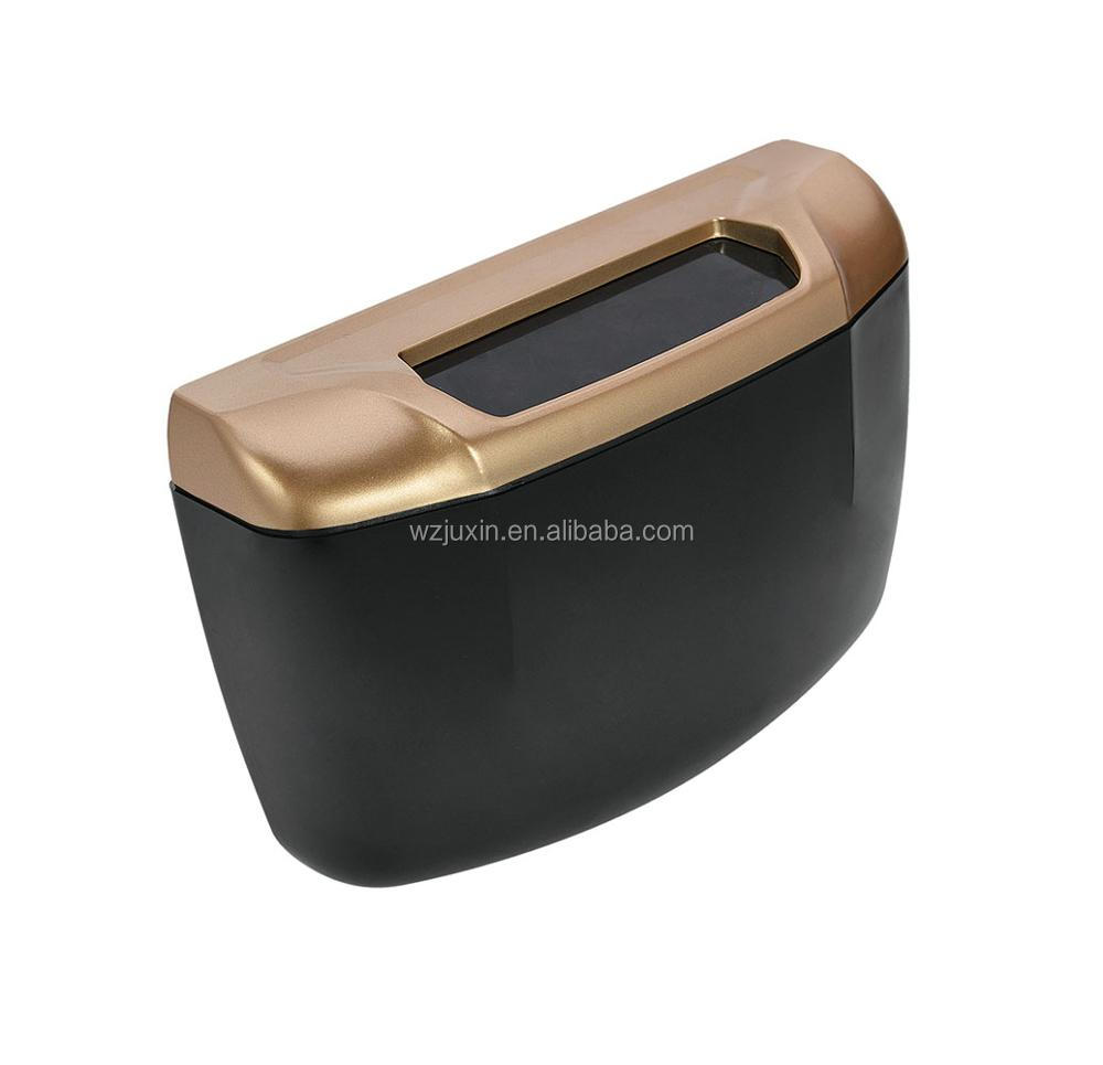 Wenzhou factory high quality Plastic golden color vehicle Trash bin
