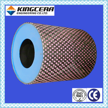 KINGCERA ceramic roller pulley lagging for Mining, Port, Paper industry&hot sale