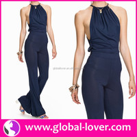 2016 new arrival womans halter neck formal jumpsuits for ladies