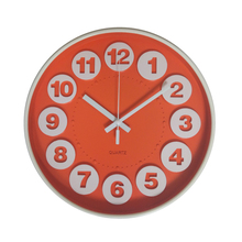 Hot Sale 12inch 3D Dial Plastic Mounted Wall Clock