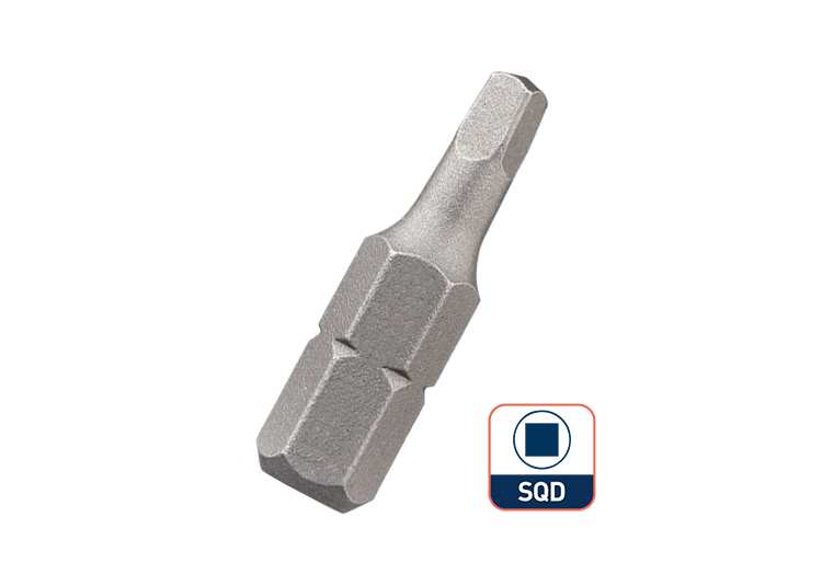 25mm 1/4 Inch Hex Shank Insert Square Screwdriver Bit