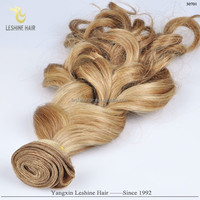 Hot Selling Direct Factory Top Quality No Shedding No Tangle Last Long Human Hair jerry curl hair weave light brown