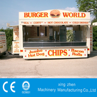 Top quality promotional mobile food cart