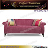 Home furniture fabric sofa, classic sofa with ottoman.