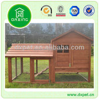 Large rabbit hutch with pull out tray