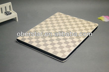 tartan artificial leather case cover for ipad 2/3/4