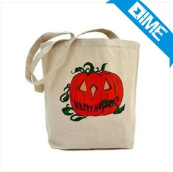 Wholesale Promotional Natural Halloween Cotton Shopping Bag