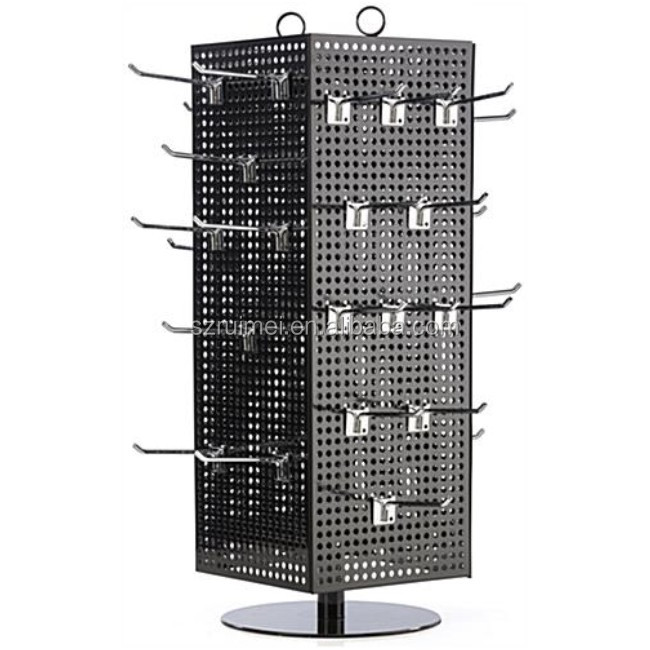 Countertop Pegboard Spinner metal jewelry display stands