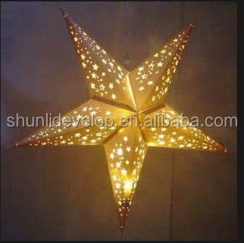 2015 Christmas ornament paper star lantern