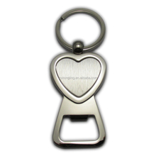 promotion heart shaped key chain bottle opener