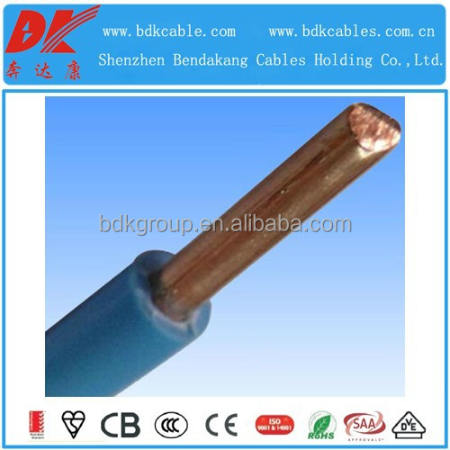 tw copper wire 4mm2 TW/THW PVC 7 stranded copper wire cable 8/10/12/14 AWG 600V THW TW Copper building electrical wire