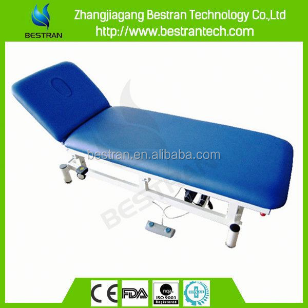 BT-EA013 China steel fram 2-section motor control motorized examination couch manufacture