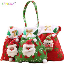 Factory sale good quality cute Santa Claus gift bag Christmas candy bag Christmas gift plush bag