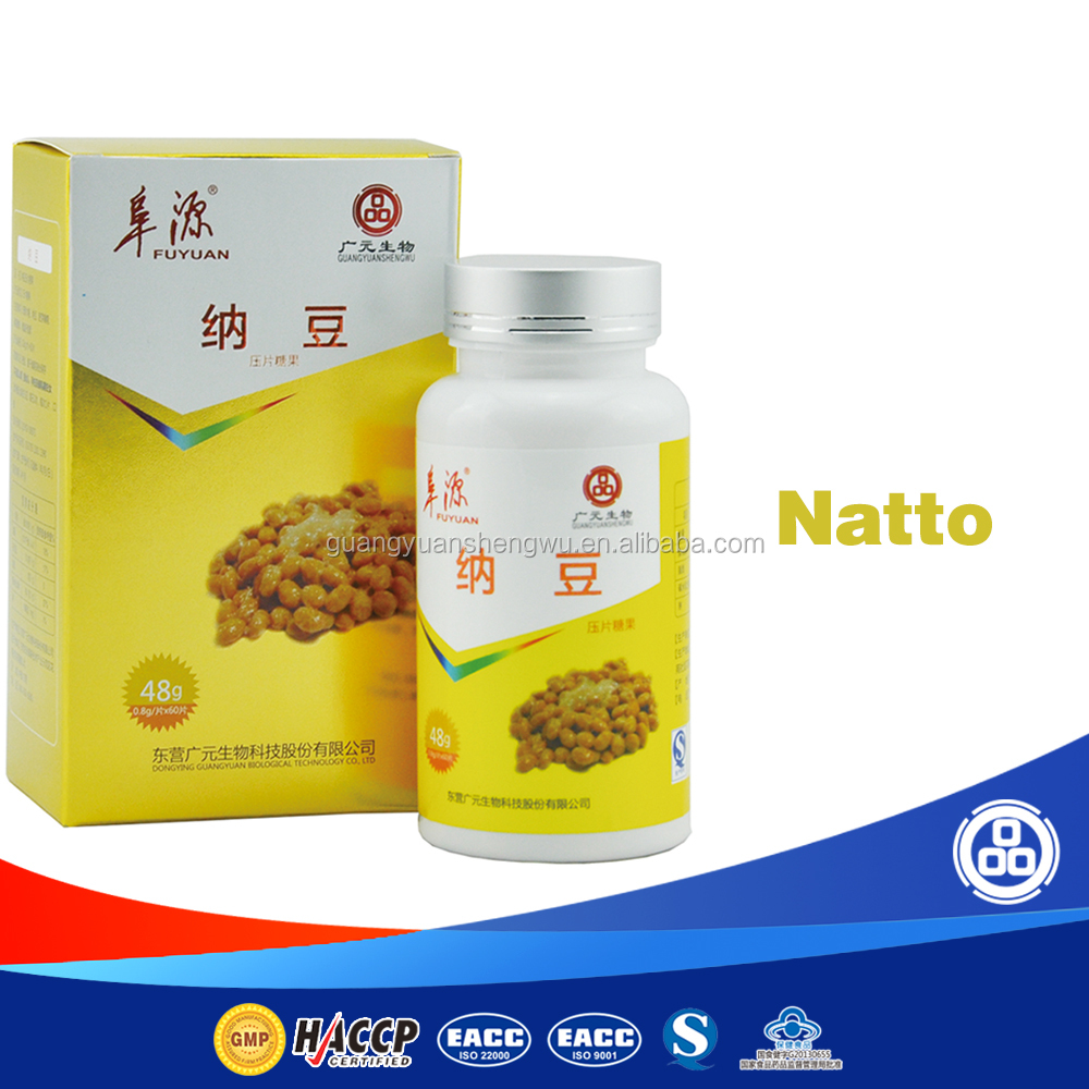 Gmp certified factory natto & ginkgo biloba extract tablet OEM health food