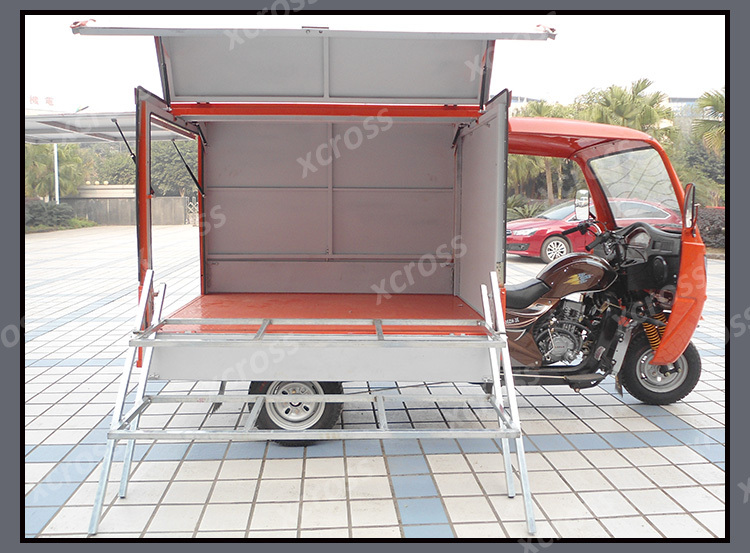 Cheap 200cc Cargo Tricycle Food Platform Three Wheels Motorcycle With Cab and Cargo Box For Sale X-Tiger200A