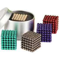 Super Strong Neodymium Magnet Cube with metal box, 3mm 5mm 10mm bucky ball toy