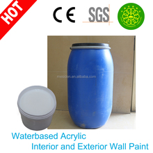 Styrene acrylic emulsion for both interior and exterior building paint