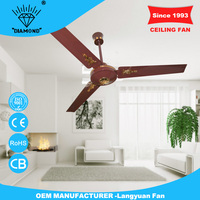 Alibaba china supplier 56inch red remote control light and ceiling fan with great price