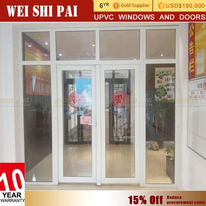 Oem Design Restaurant Glass Office Entry Doorupvc Type Double Oval