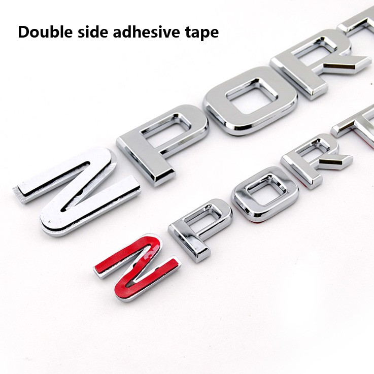 ABS plastic body kits chrome custom font sport letters car emblem