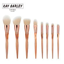 High qaulity 8pcs pro makeup brushes set blending eyeshadow foundation luxury cosmetic brush heart-shaped rose gold for women