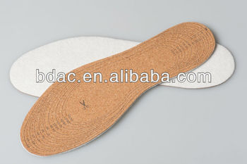 Comfortable cotton footcare cork shoe insole