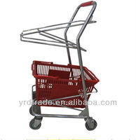 hot product basket shopping trolley / groceries shopping basket carts (YRD-J3)