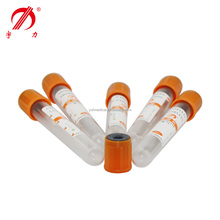 3ml orange blood collection tube with coagulant pro-coagulation tube