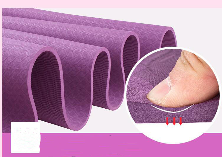 Eco-friendly Anti Slip TPE Yoga Mat Sport Mat And Fitness Mat Double Color