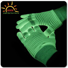 New design blinking LED flashing glove light with colorful LED for crazy party