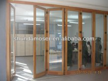 shundamoser balcony solid wood/timber folding door