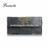 Fashion black color ladies wallet stud and zipper accessories