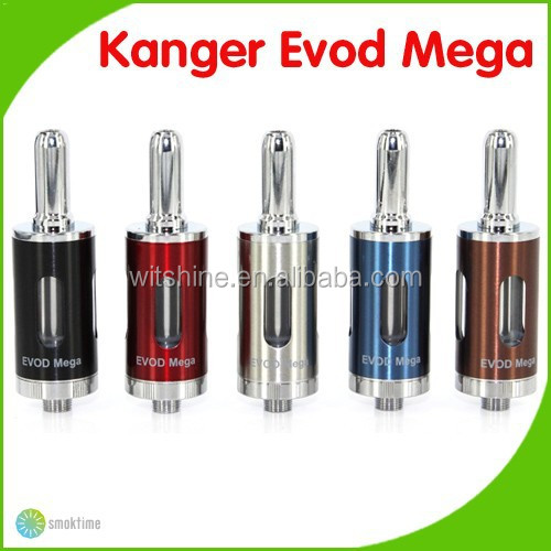 China wholesale Supplier Original Kanger Evod mega Atomizer 1.5 ohm Upgraded Dual Coil Evod Mega Atomizer
