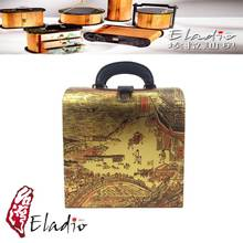 Eladio design product gift card leather box with lid