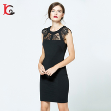 new model fashion black lace ladies dress night party summer sexy prom dress for girls