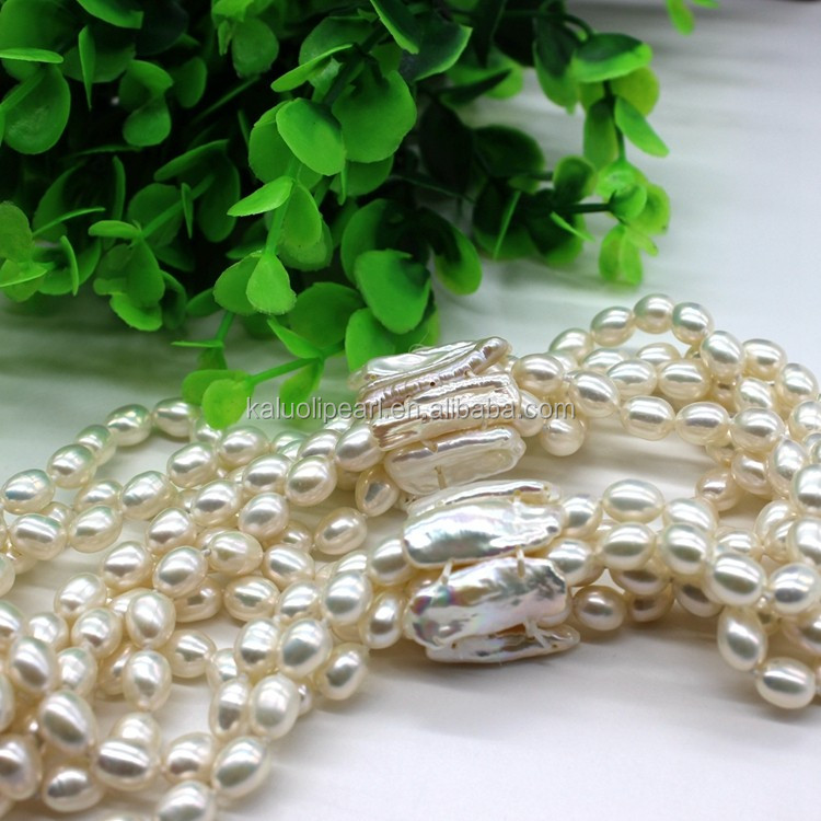 Handmade Natural Seed Pearl Multi 7 Layer Bead Necklace