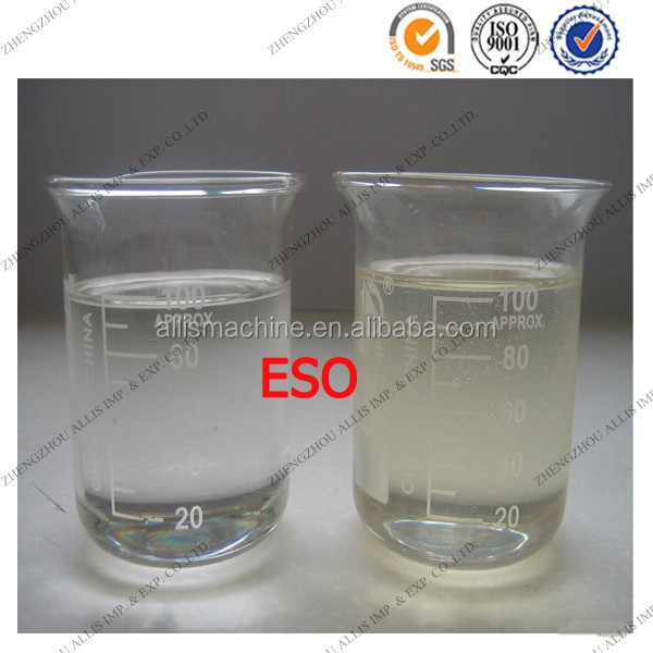 High epoxy value transparent liquid plasticizer epoxidized soybean oil/eso