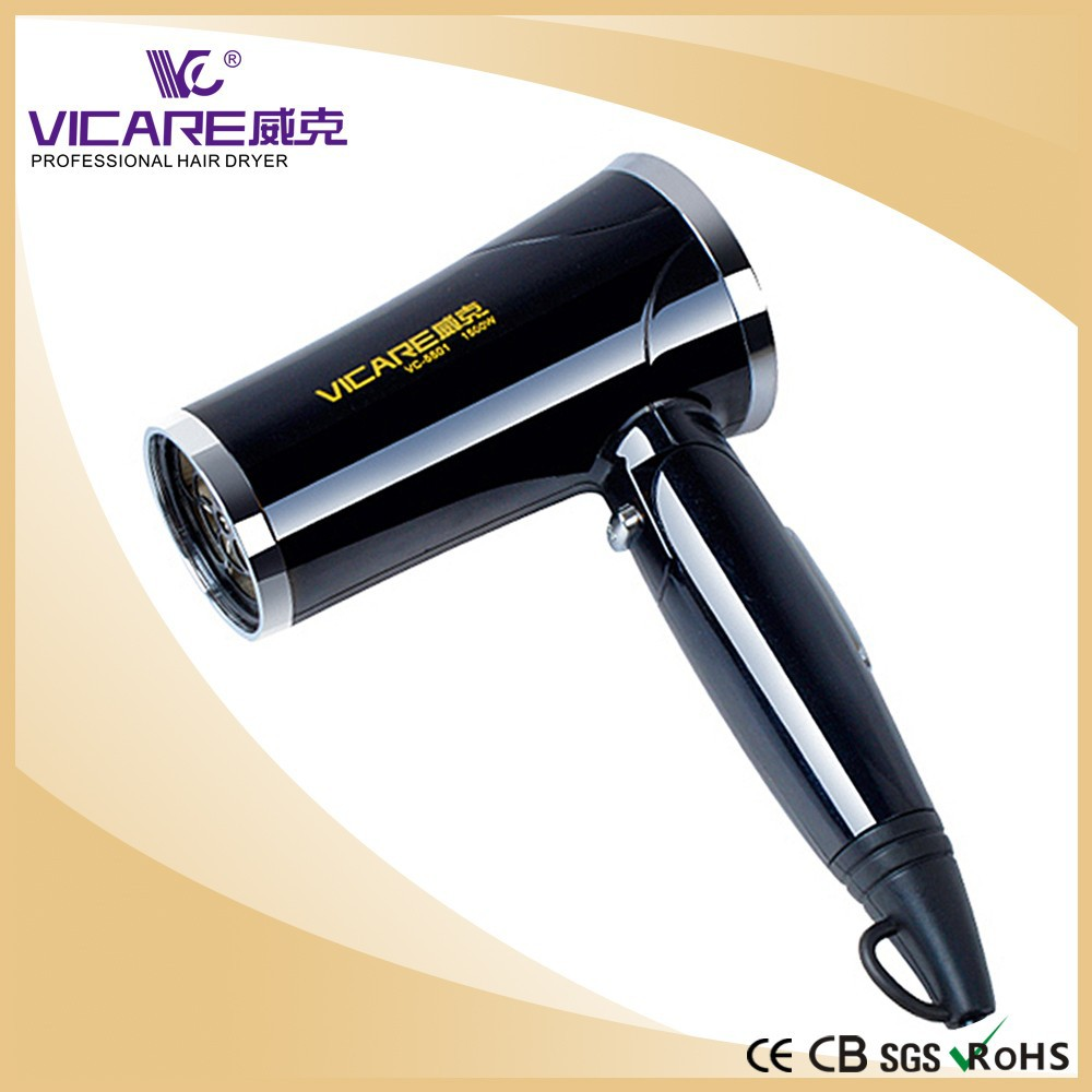 Foldable Mini Hair Dryer With Diffuser for Travel