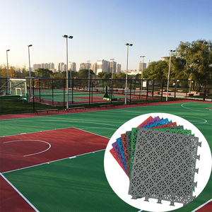 Well Sale Safety Item PP Interlocking Basketball Court Sports Flooring Mat