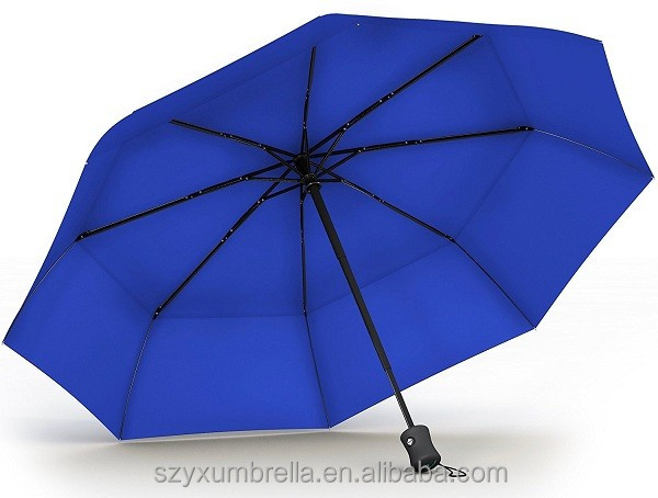 21x8k J shape handle folding canada umbrella wholesale