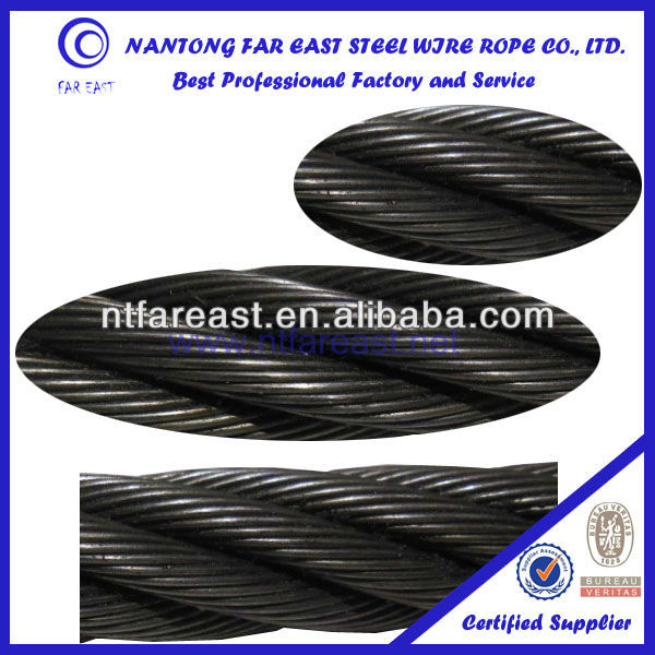 6*29Fi+FC steel wire rope for port handling