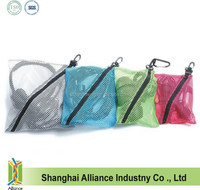 Storage Mesh Organizer Bags for Packing Computer Cables, Chargers, Cosmetics, Toiletries(Z-PL-042)