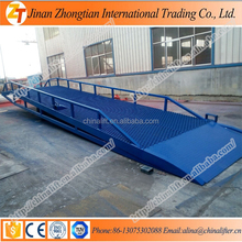 Folding portable mobiel hydraulic yard ramp trunk bridge container forklift load ramp